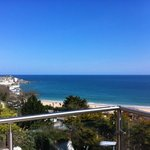  on the spa balcony overlooking St.Ives Bay